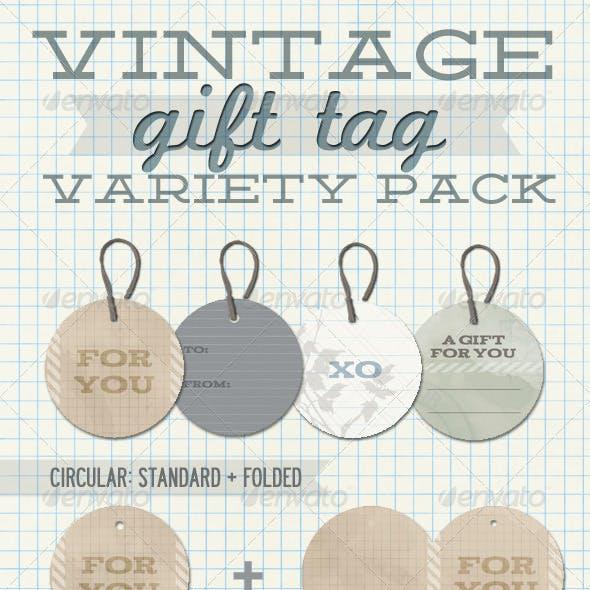Vintage Gift Tag Variety Pack