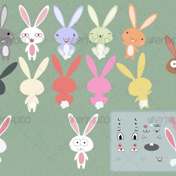 cute bunny rabbit vector