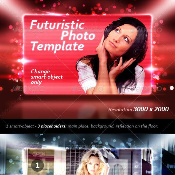 Futuristic Photo Template