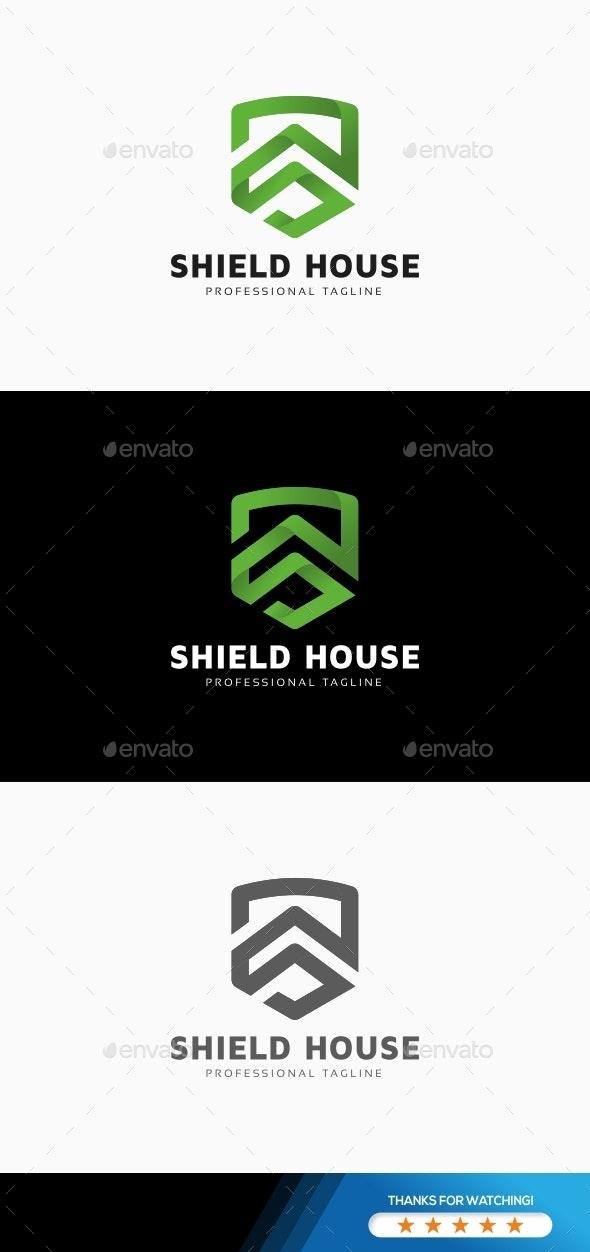 Shield House Logo - Buildings Logo Templates