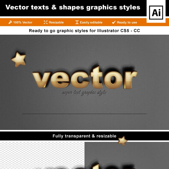 Metal 3D Text Effects for Illustrator