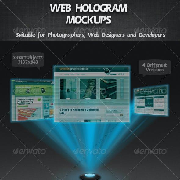 Web Hologram Mockups