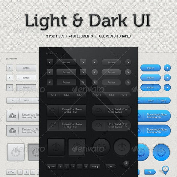 UI Kit Light & Dark