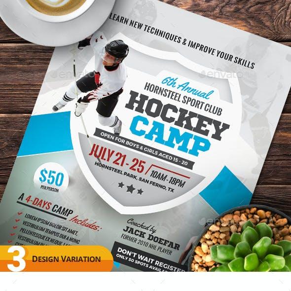 Hockey Camp Flyer Templates