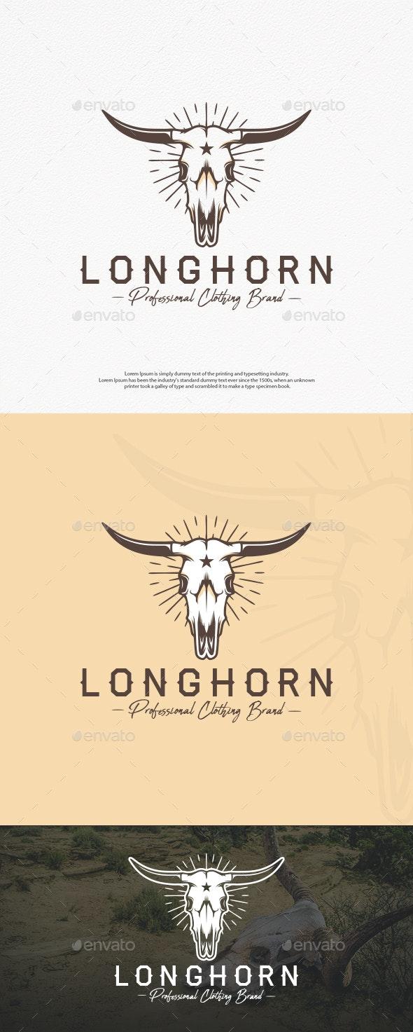 Longhorn Skull Logo Template - Animals Logo Templates