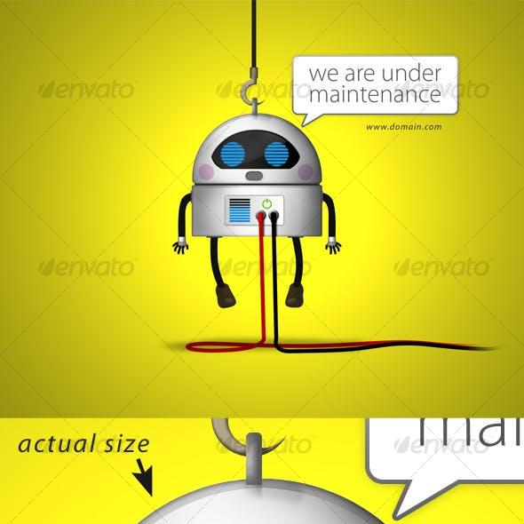 Robot Under Maintenance Screen