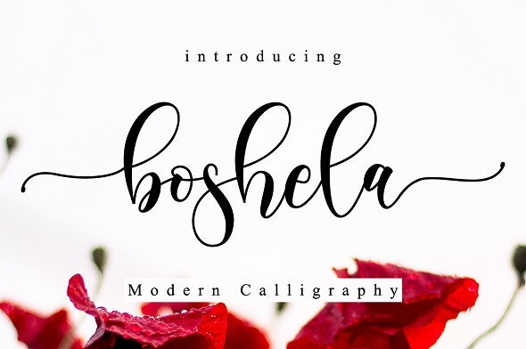 Boshela Script - Calligraphy Script