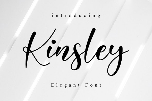 Kinsley Script - Calligraphy Script