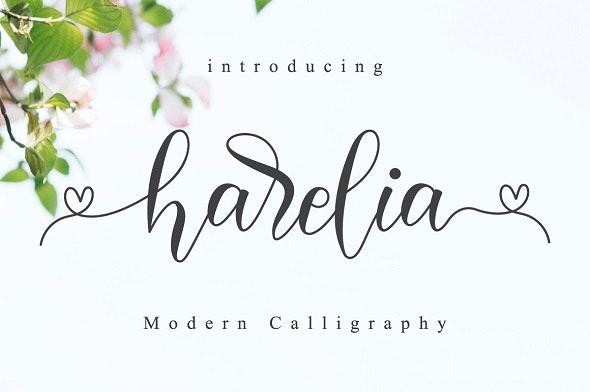 Harelia Script - Calligraphy Script
