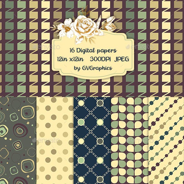 Retro Patterned Backgrounds