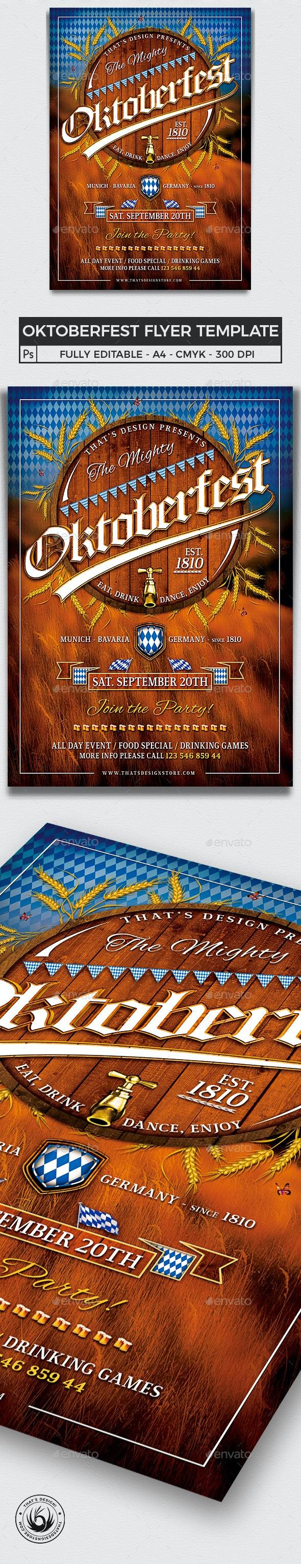 Oktoberfest Flyer Template V2 - Holidays Events