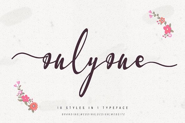 onlyone - Hand-writing Script
