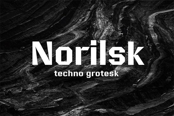 Norilsk font - Sans-Serif Fonts