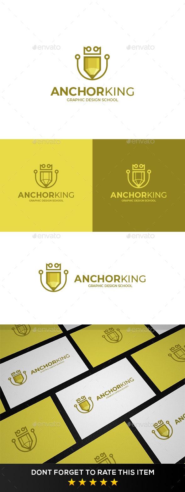 Creative Anchor King Logo - Symbols Logo Templates
