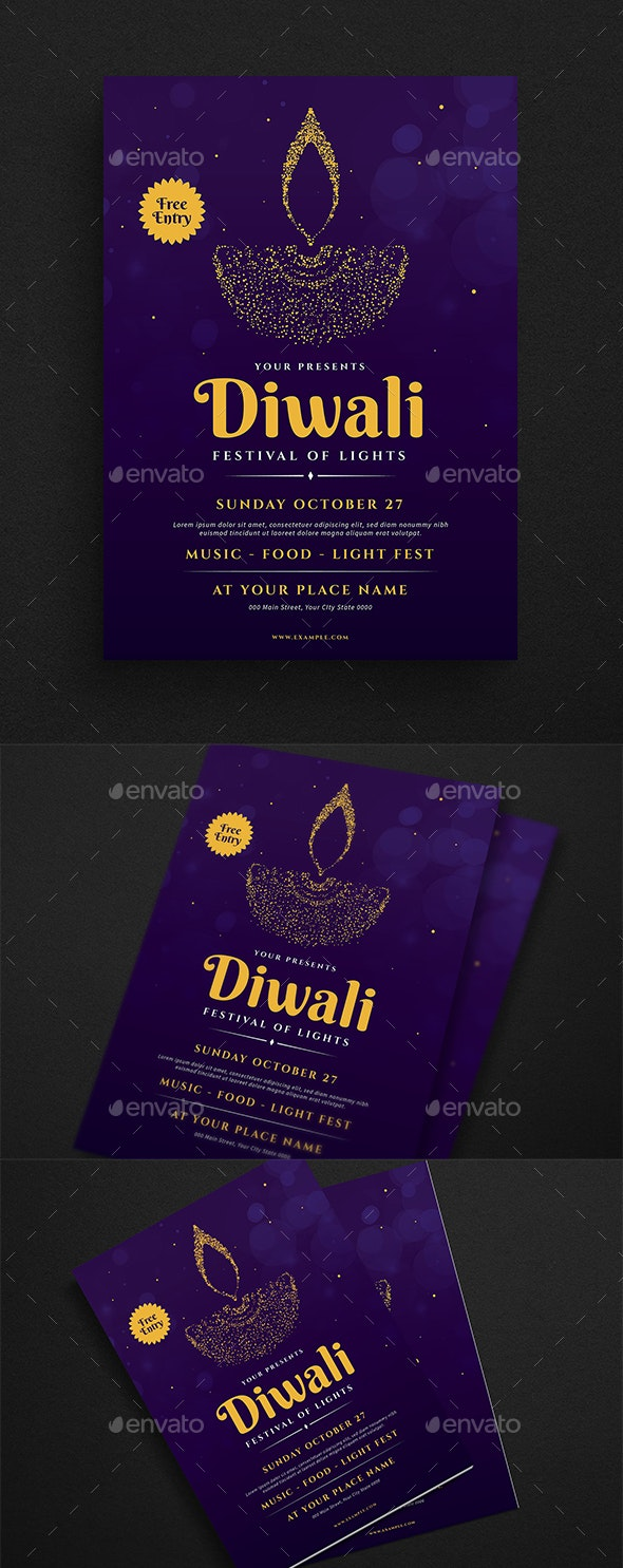 Diwali Event Flyer - Events Flyers
