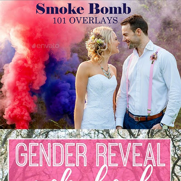 101 Smoke Bomb Overlays, Gender Reveal