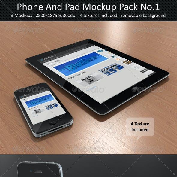 Phone And Pad Mock-Up Pack No.1