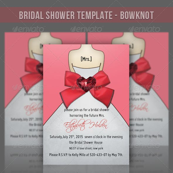 Bridal Shower Template - Bowknot