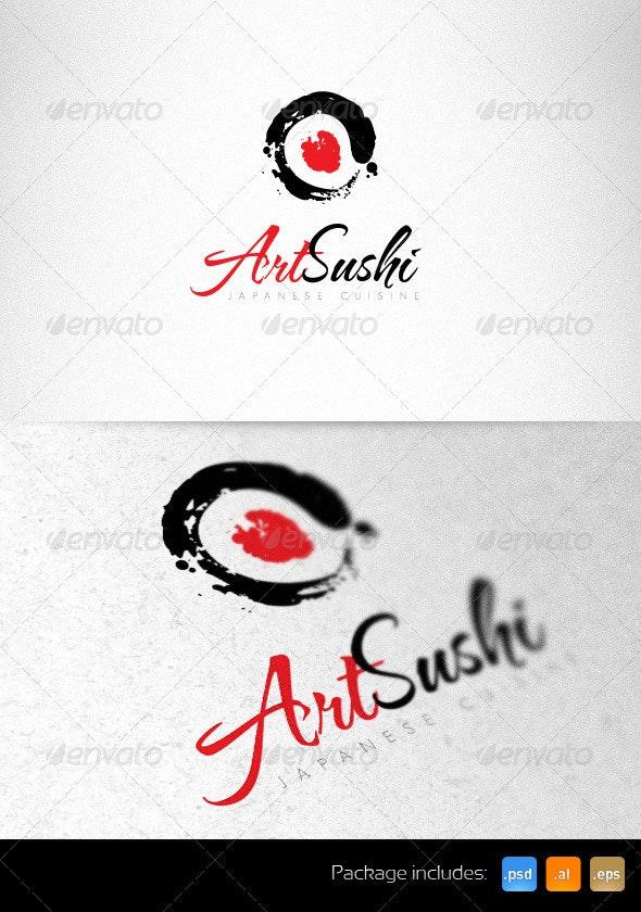 Art Sushi Creative Logo Template - Vector Abstract