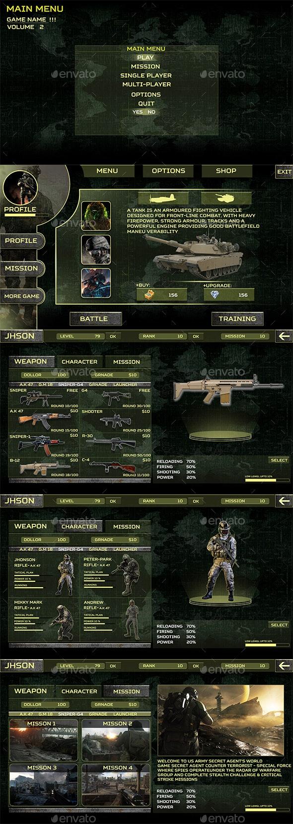 Infinite Warfare UI Kit Pack - User Interfaces Game Assets