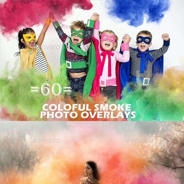 60 Colorful Smoke Photo Overlays