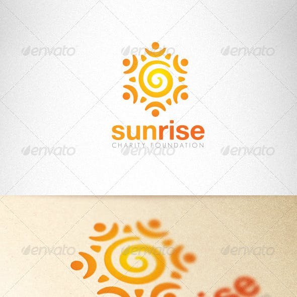 Sunrise Charity Foundation Creative Logo