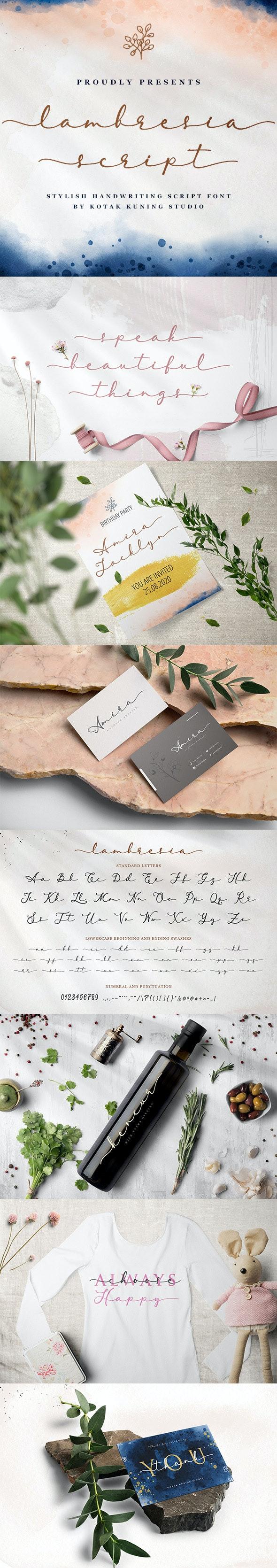 Lambresia Script - Calligraphy Script