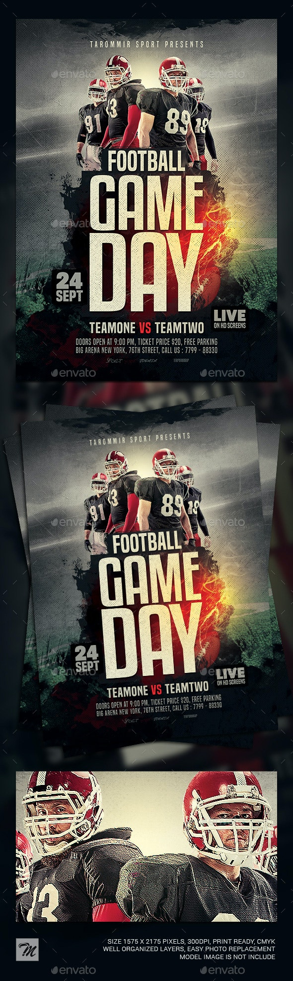 Football Game Day Flyer - Sports Events
