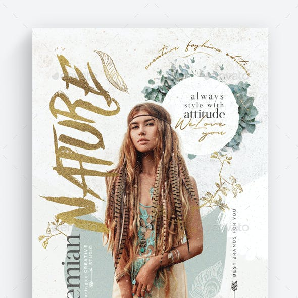 Boho Style Flyer Template