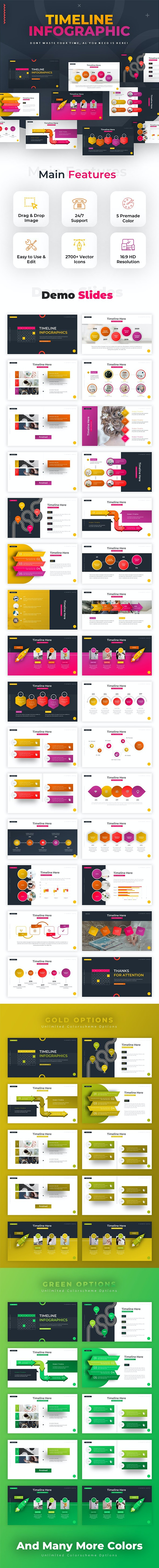 Timeline Infographic Powerpoint - PowerPoint Templates Presentation Templates
