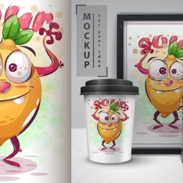 Crazy Lemon Poster and Merchandising