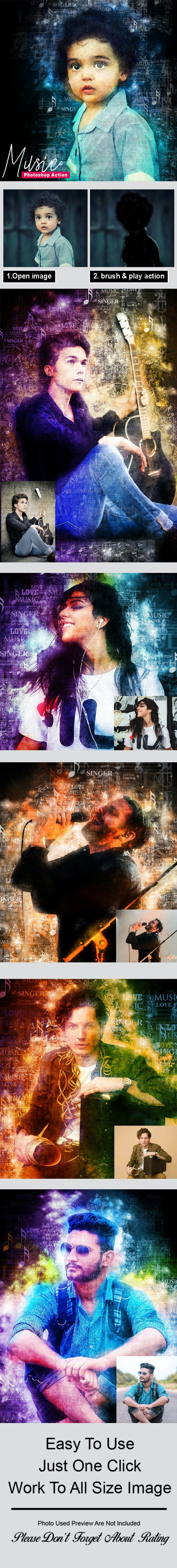 Music - Photoshop Action - Photo Effects Actions