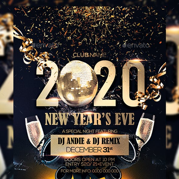 2020 New Year Event Flyer