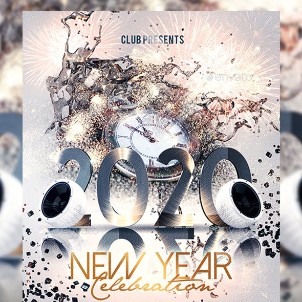 2020 New Year Party Event Flyer