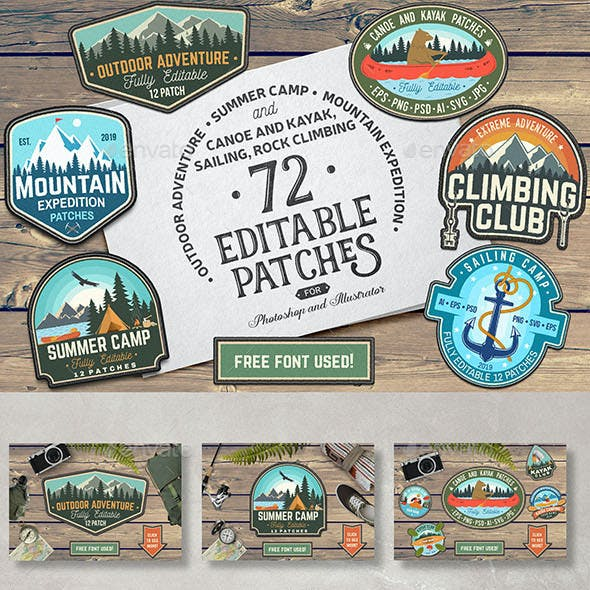 72 Badge Graphics in One Bundle Part.4