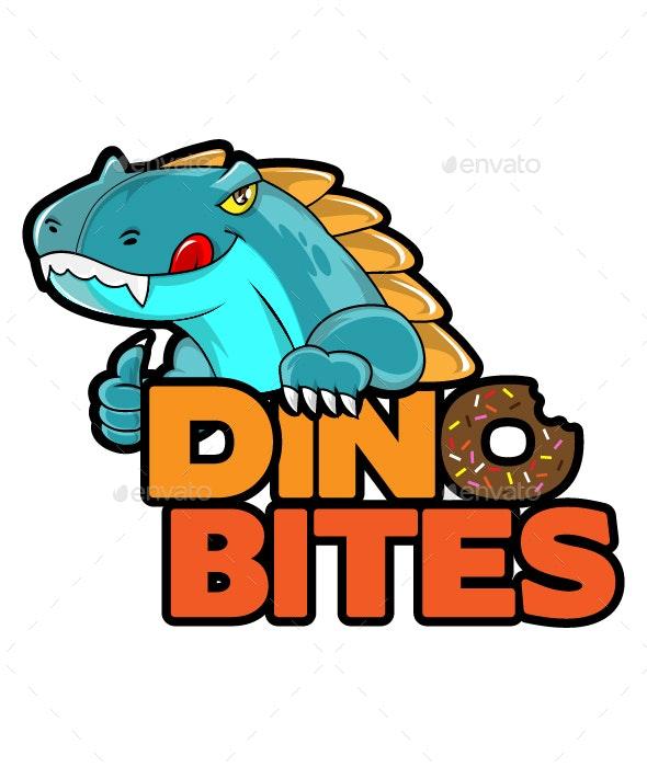 DinoBite - Dino Character Mascot Logo - Animals Characters