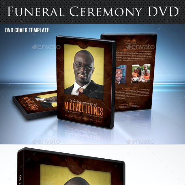 Funeral Ceremony DVD Cover Template