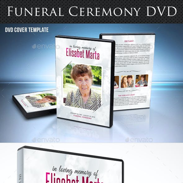 Funeral Ceremony DVD Cover Template V2