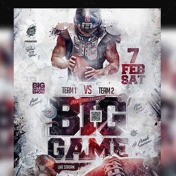 Football Big Game Flyer