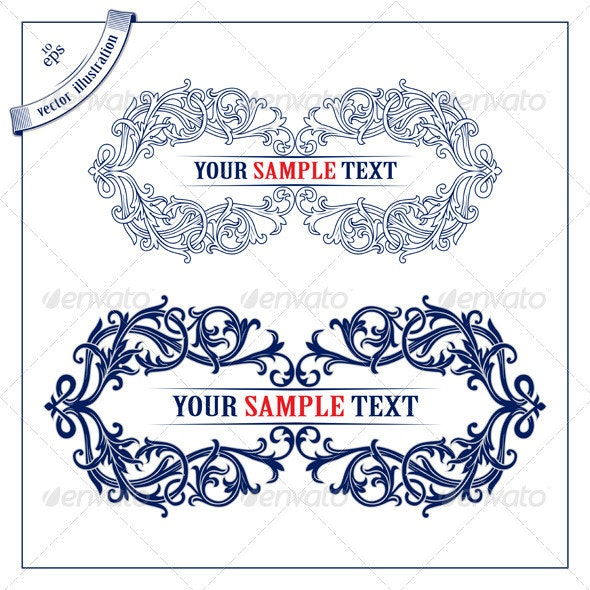 Pattern Frame. 100% Editable Vector File. EP - Borders Decorative