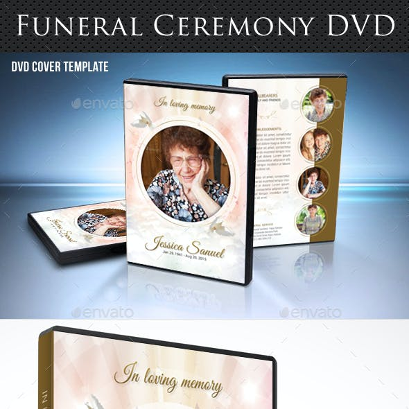 Funeral Ceremony DVD Cover Template V3