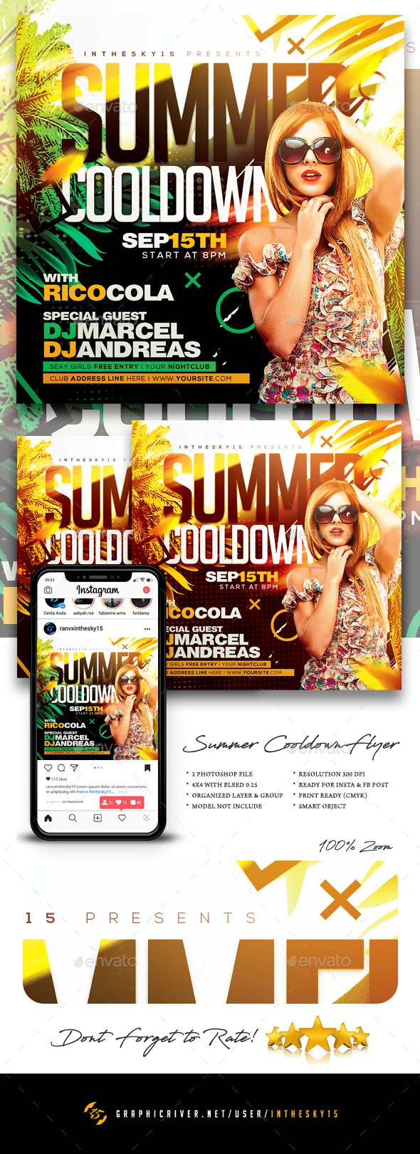 Summer Cooldown Flyer - Clubs & Parties Events