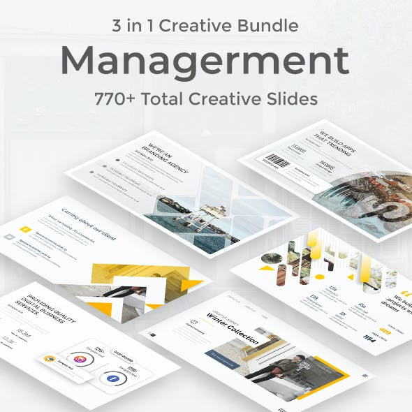 3 in 1 Management Tool Creative and Business Bundle Google Slide Pitch Deck Template
