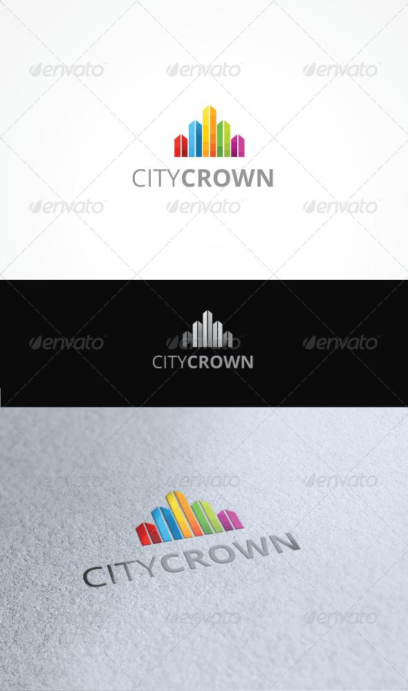 City Crown - Buildings Logo Templates