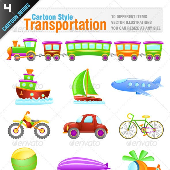 Cartoon Style Transportation