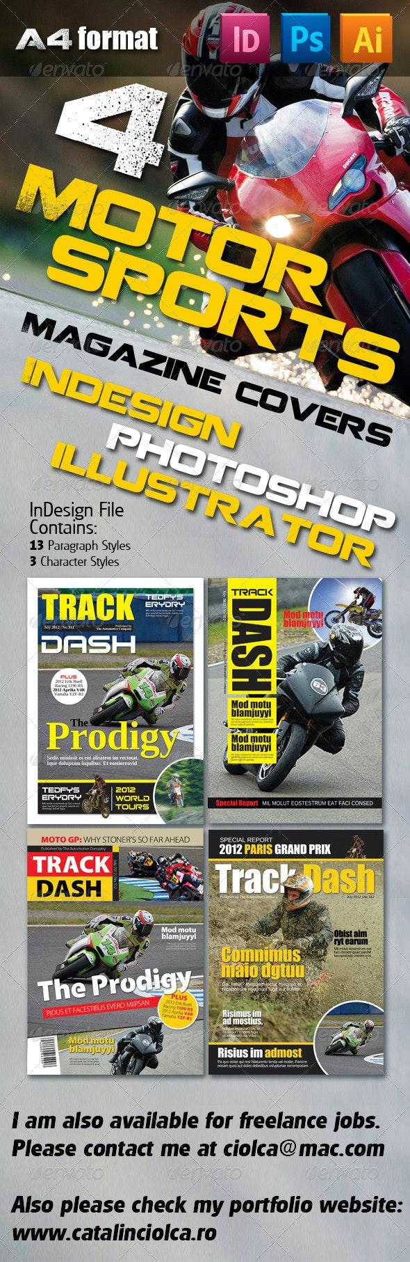 4 Motorsports Magazine Covers - Magazines Print Templates