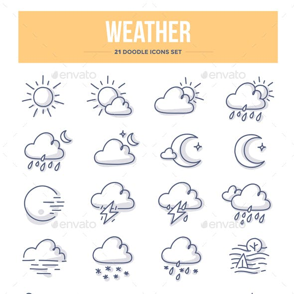 Weather Doodle Icons