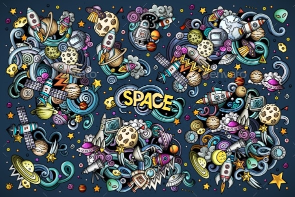 Vector Set of Space Combinations of Objects - Technology Conceptual