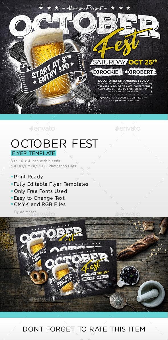 October Fest Flyer - Holidays Events