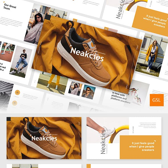 Neakcies - Sneakers and Shoes Google Slides Template